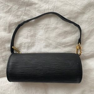 Louis Vuitton black mini papillon bag